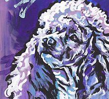 Poodle Dog Bright colorful pop dog art by bentnotbroken11