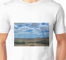Clouds over farmland Unisex T-Shirt