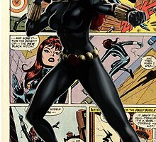 Black Widow - Comic Styled by pxat