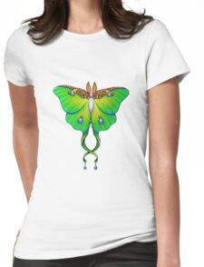 Beautiful emerald green butterfly Womens Fitted T-Shirt