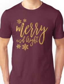 merry and bright gold Unisex T-Shirt