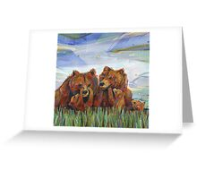 Grizzly bears Greeting Card