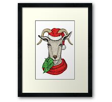 Winter holiday goat Framed Print