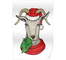 Winter holiday goat Poster