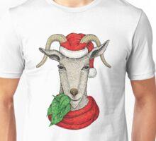 Winter holiday goat Unisex T-Shirt