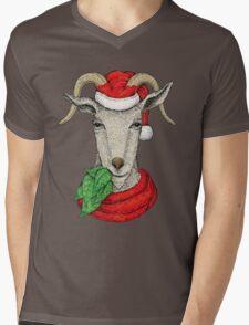 Winter holiday goat Mens V-Neck T-Shirt