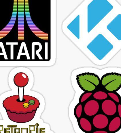 Atari Rainbow Fuji - Raspberry Pi Case Sticker Sticker