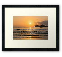 Beautiful tropical sunset in the ocean Framed Print