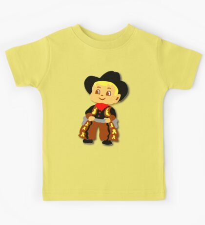 Retro cute Kid Billy Cowboy tee Kids Tee