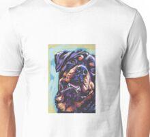 Rottweiler Dog Bright colorful pop dog art Unisex T-Shirt