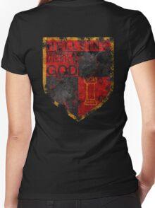 Hellsing symbol Women's Fitted V-Neck T-Shirt