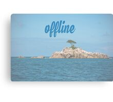 Island in the Indian ocean Canvas Print