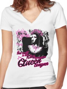 Queen Nicki  Women's Fitted V-Neck T-Shirt