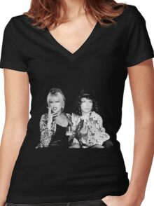 Patsy and Eddie Women's Fitted V-Neck T-Shirt