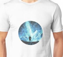 A walk in mountains to achieve view of meteor shower Unisex T-Shirt