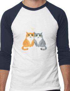 Purretty Kitties Men's Baseball ¾ T-Shirt