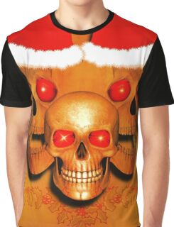 Laughing Christmas Skulls Graphic T-Shirt
