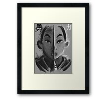 In Courage, Strength Framed Print