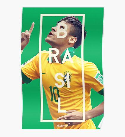 Neymar - Brazil Poster