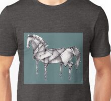 Origami Horse Teal Unisex T-Shirt