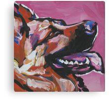German Shepherd Bright colorful pop dog art Canvas Print