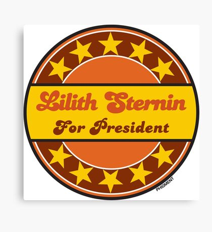 LILITH STERNIN FOR PRESIDENT Canvas Print