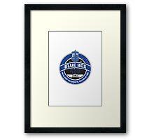 Blue Box Petrol Framed Print