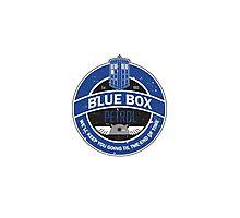 Blue Box Petrol Photographic Print