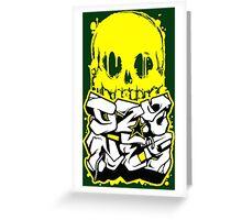Skull Paint (Yellow) Greeting Card
