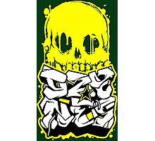 Skull Paint (Yellow) Photographic Print