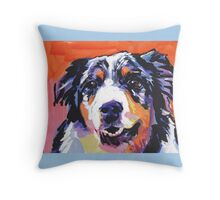 Australian shepherd Aussie Bright colorful Pop Art Throw Pillow