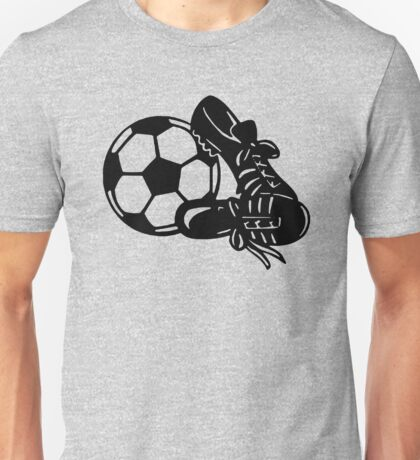 Soccer Shoes and Ball Funny Unisex T-Shirt