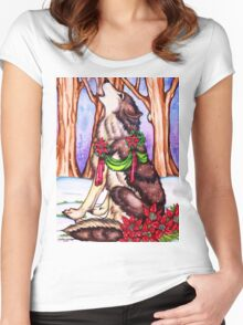 Howl for the Holidays Women's Fitted Scoop T-Shirt