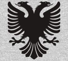 Albanian Eagle / Flag One Piece - Long Sleeve