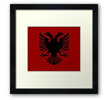 Albanian Eagle / Flag Framed Print