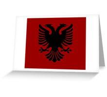 Albanian Eagle / Flag Greeting Card