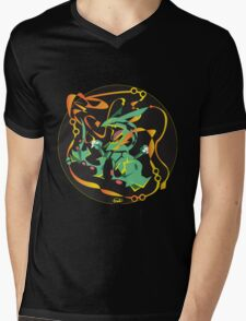 Delta Dragon Circle Mens V-Neck T-Shirt