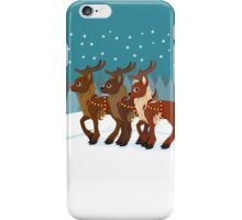 Reindeer in the Snow iPhone Case/Skin