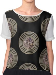 Water Woman, embroidered photo Chiffon Top