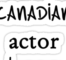 White Tall Awkward Canadian Actor Drummer Person Sticker