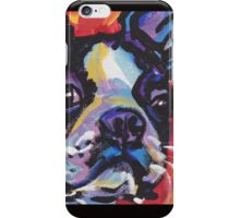 Boston Terrier Bright colorful pop dog art iPhone Case/Skin