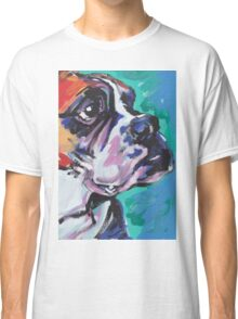 Boxer Dog Bright colorful pop dog art Classic T-Shirt