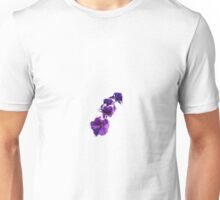 Purple White-Tipped Petunias Unisex T-Shirt