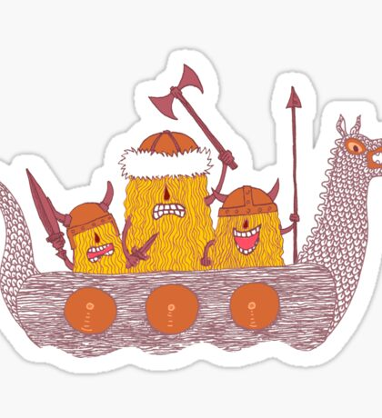Viking Party Animals in a  Dragon Boat Sticker