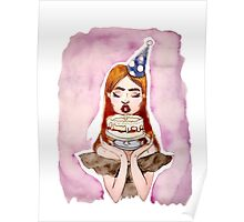 Cake face Poster