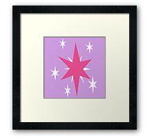 Twilight Sparkle Cutie Mark Framed Print