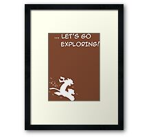 let's go exploring (white) Framed Print