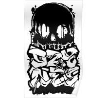 Skull Paint (Black) Poster