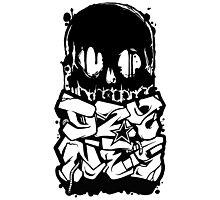 Skull Paint (Black) Photographic Print