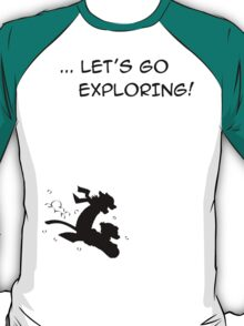 let's go exploring (black) T-Shirt